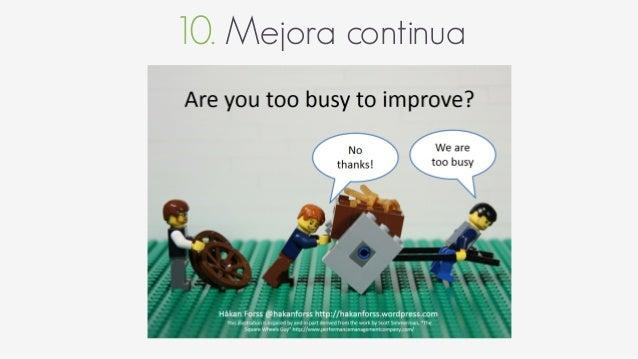 """10. Mejora continua Retrospectiva """"Es una reunión donde un equipo se junta para realizar una introspección de su forma de ..."""