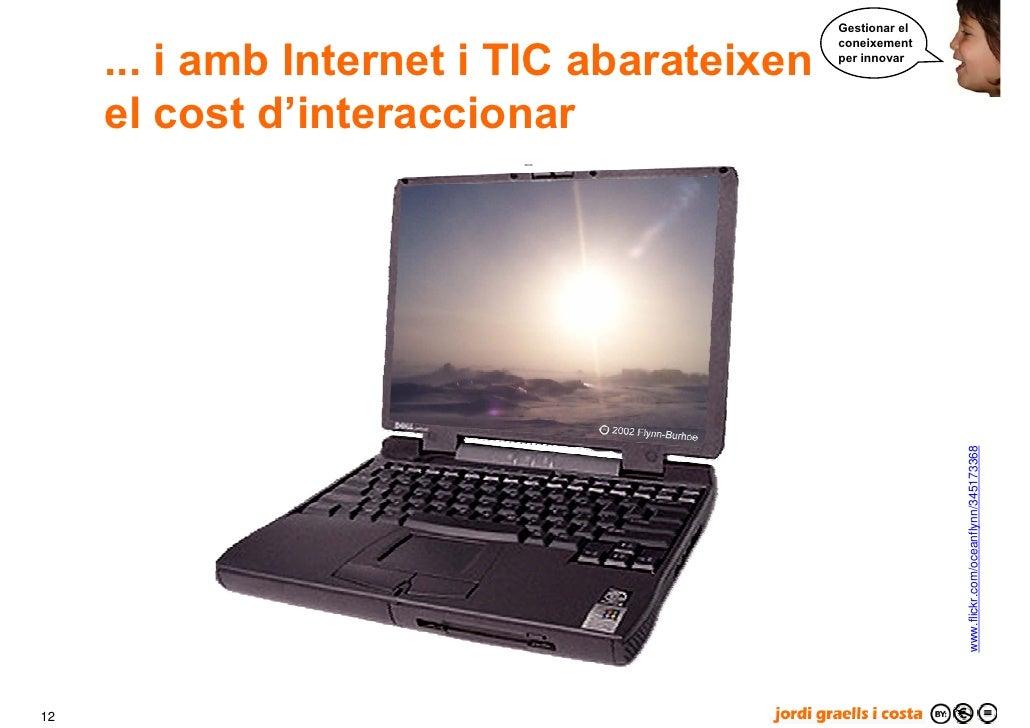 Gestionar el        ... i amb Internet i TIC abarateixen                                             coneixement          ...