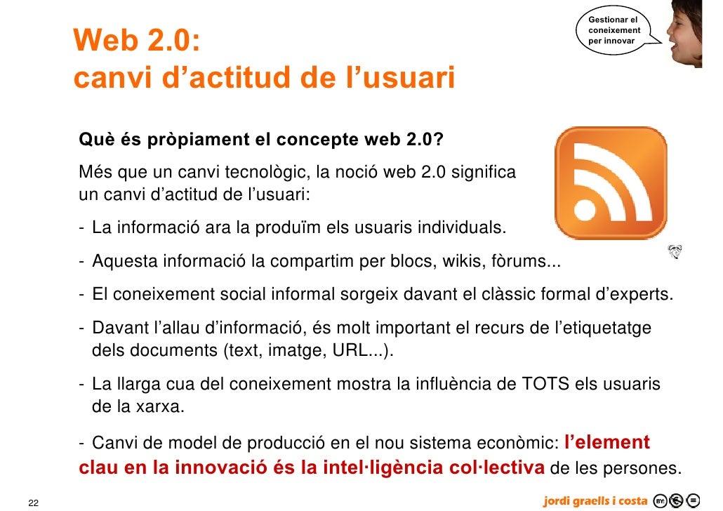 Gestionar el        Web 2.0:                                                                        coneixement           ...