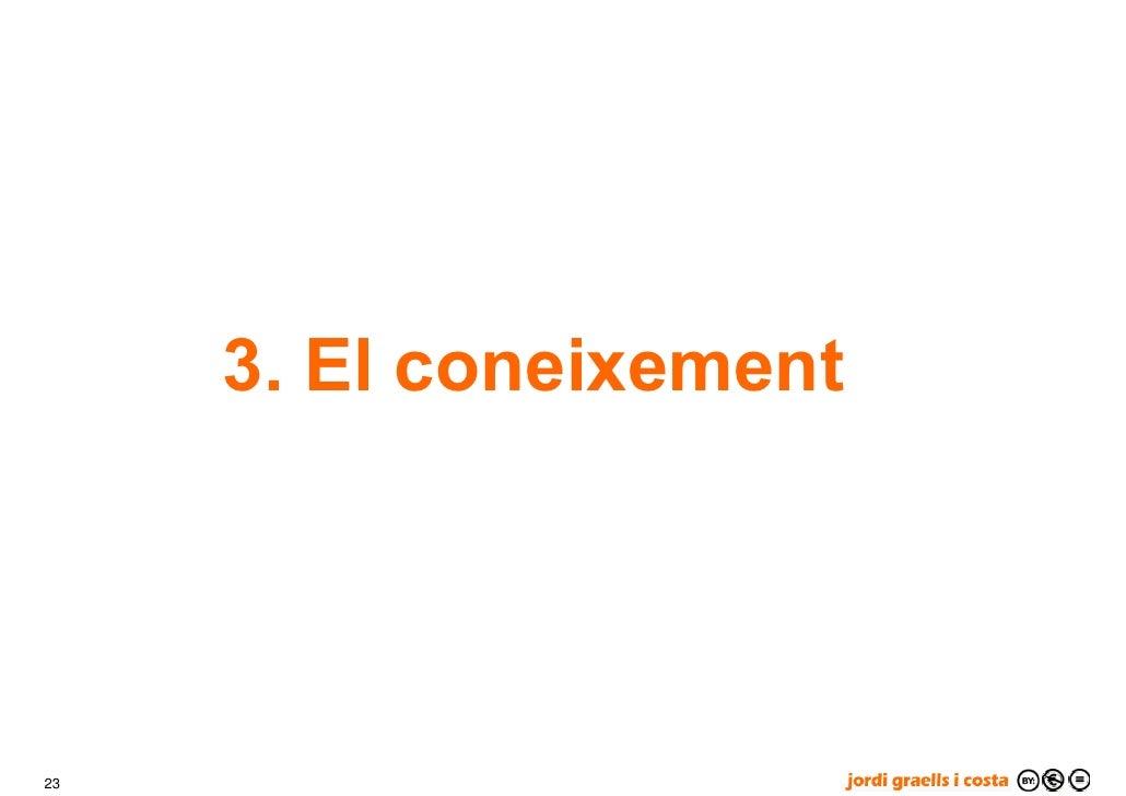 3. El coneixement     23