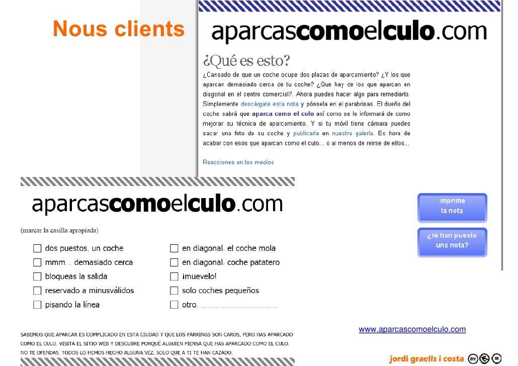 Nous clients                         www.aparcascomoelculo.com   57
