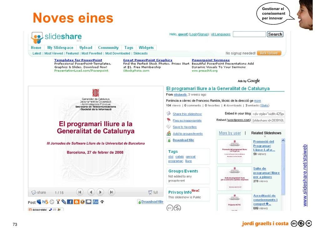 Gestionar el        Noves eines                    coneixement                    per innovar                             ...