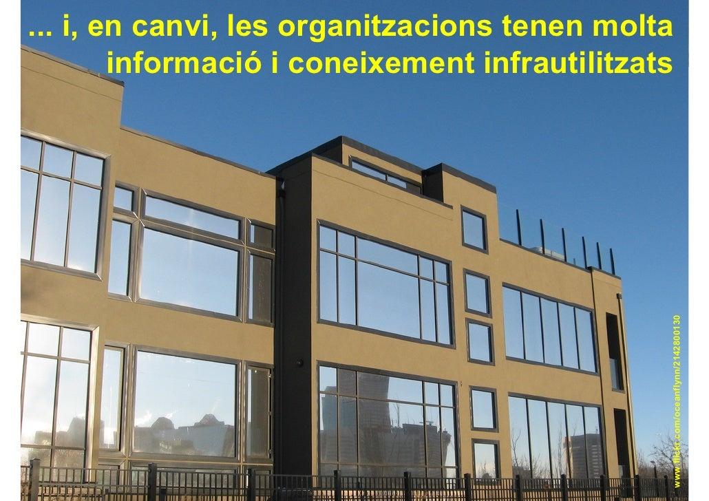 ... i, en canvi, les organitzacions tenen molta                                         Gestionar el                      ...