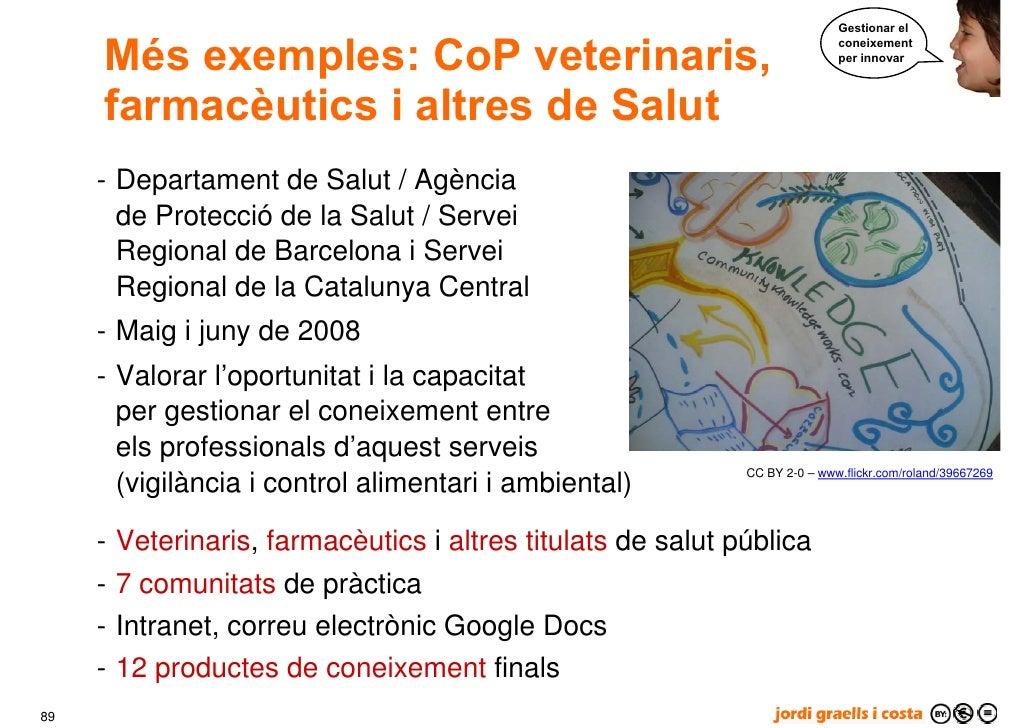 Gestionar el        Més exemples: CoP veterinaris,                                                                        ...