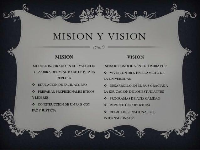 MODELO INSPIRADO EN EL EVANGELIO Y LA OBRA DEL MINUTO DE DIOS PARA OFRECER  EDUCACION DE FACIL ACCESO  PREPARAR PROFESIO...