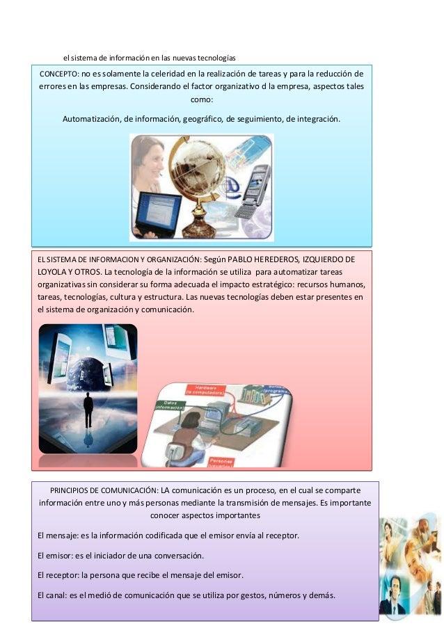 el sistema de información en las nuevas tecnologíasjhdusihcksmcksdncsdcmccnvnjdevmdjkscgbjnbjbCONCEPTO: no es solamente la...