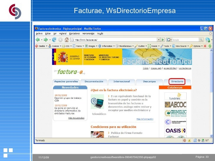 Facturae, WsDirectorioEmpresa