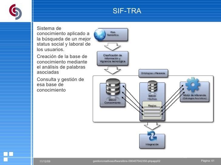 SIF-TRA Sistema de conocimiento aplicado a la búsqueda de un mejor status social y laboral de los usuarios.  Creación de l...