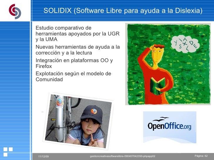 SOLIDIX (Software Libre para ayuda a la Dislexia) Estudio comparativo de herramientas apoyados por la UGR y la UMA Nuevas ...