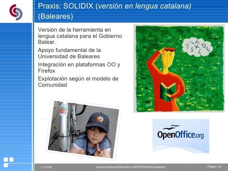 Praxis: SOLIDIX ( versión en lengua catalana) (Baleares)   Versión de la herramienta en lengua catalana para el Gobierno B...