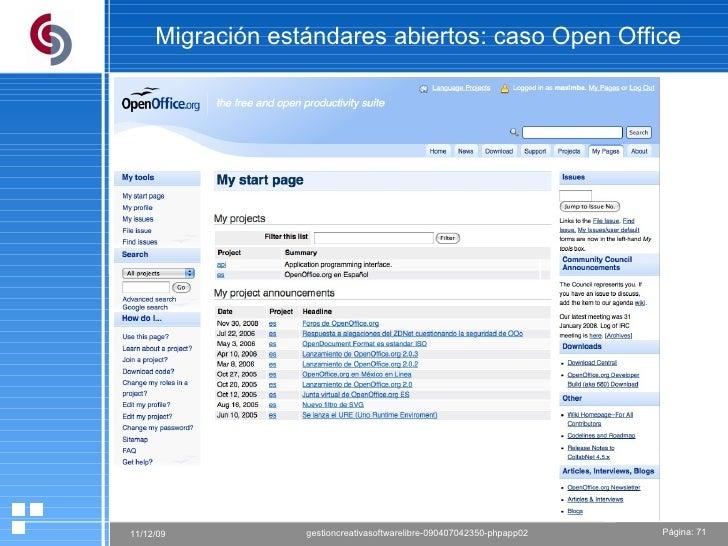 Migración estándares abiertos: caso Open Office