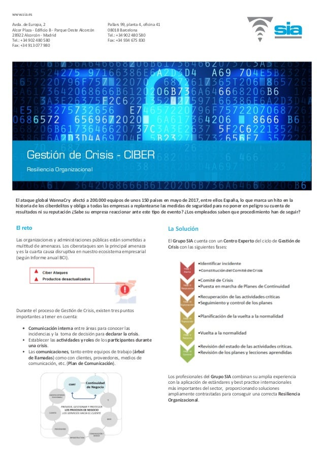 El reto Las organizaciones y administraciones públicas están sometidas a multitud de amenazas. Los ciberataques son la pri...