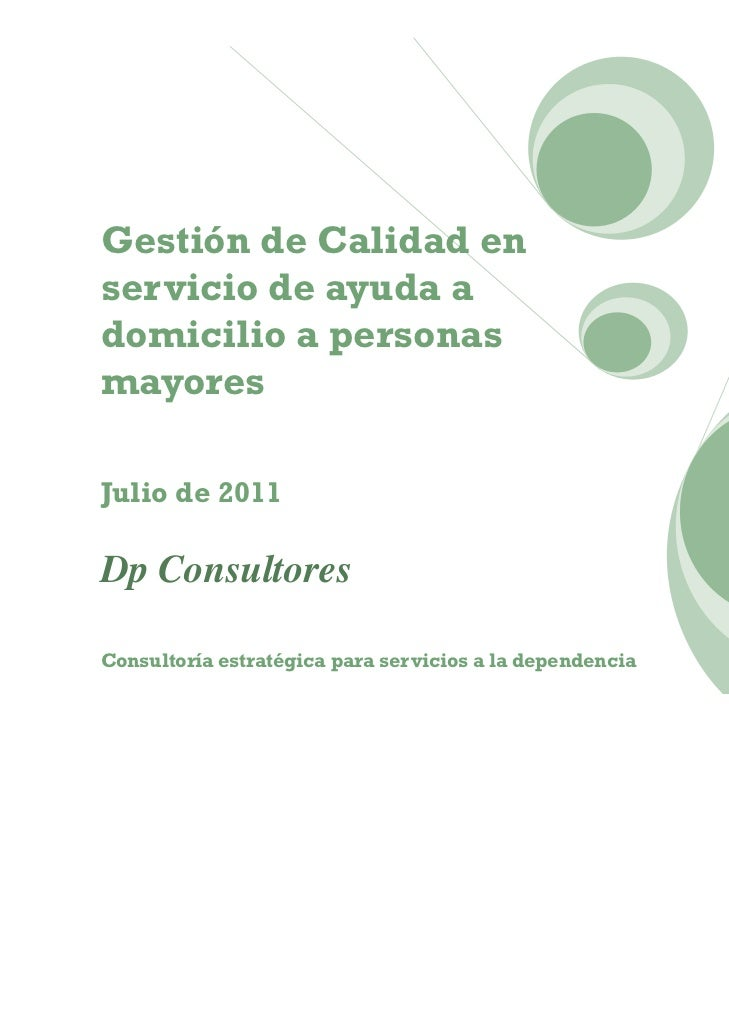 Gestion de calidad en servicios de ayuda a domicilio a for Sillon alto para personas mayores