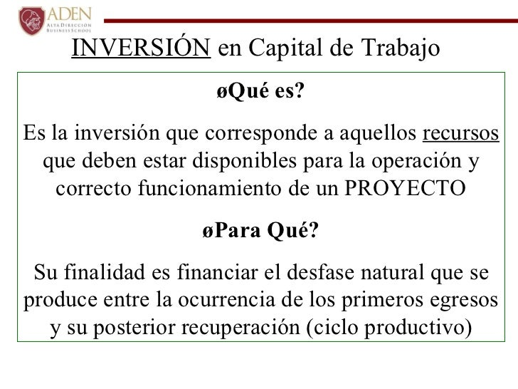 Gestion De Capital De Trabajo