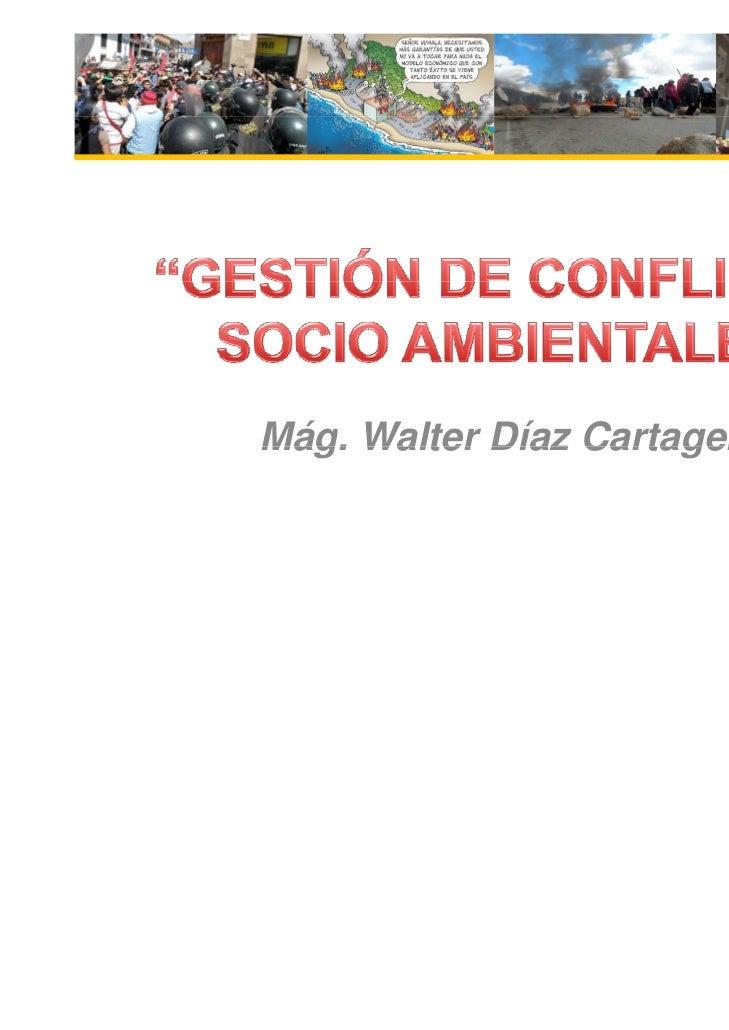 Mág. Walter Díaz Cartagena