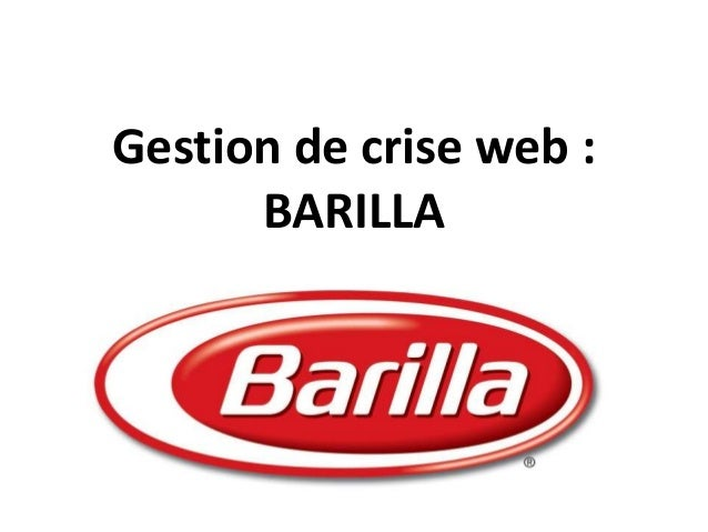 Gestion de crise web : BARILLA