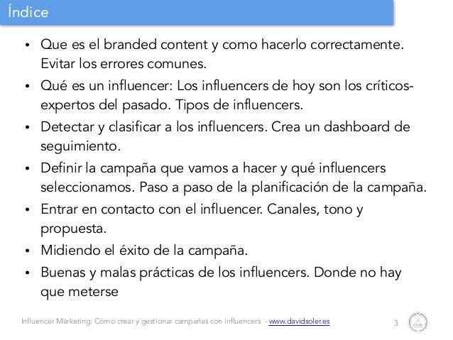 Gestion de campañas con influencers Slide 3