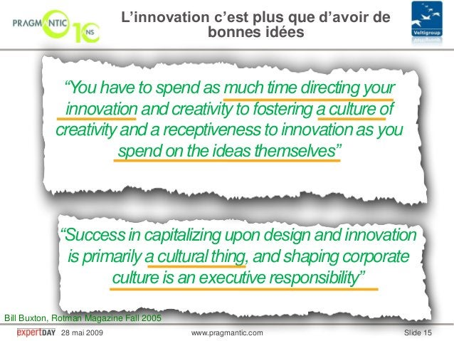 """www.pragmantic.com Slide 1528 mai 2009 www.pragmantic.com""""You have to spend as much time directing yourinnovation and crea..."""