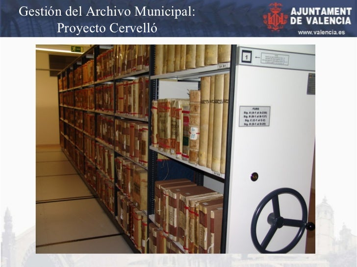 Gestión del Archivo Municipal: Proyecto Cervelló