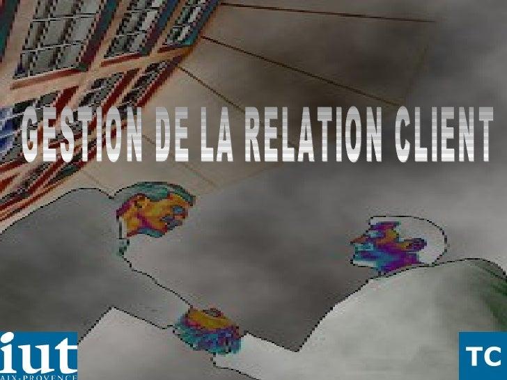 02/06/09 Christian Duponchel  2° année TC GESTION DE LA RELATION CLIENT