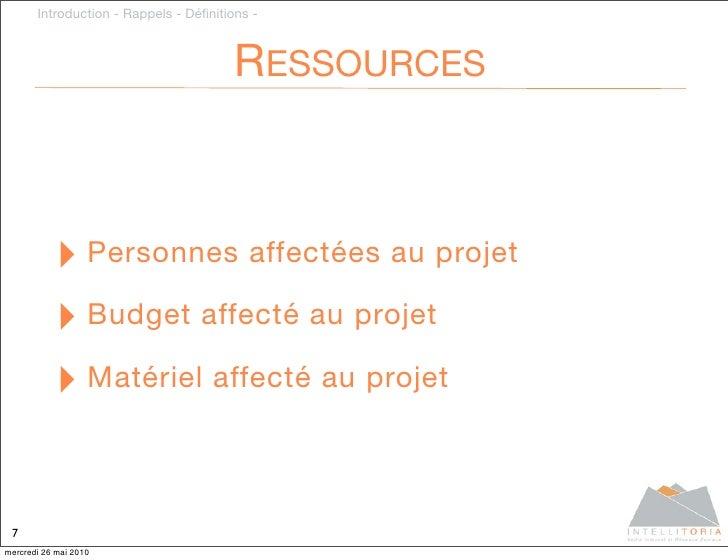 Introduction - Rappels - Définitions -                                            RESSOURCES               ‣ Personnes affe...