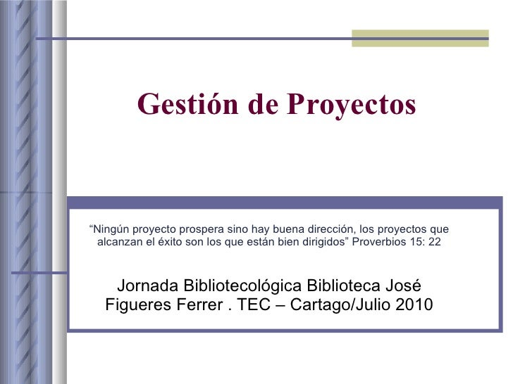 Gestion de proyectos for Ejemplo proyecto completo pmbok