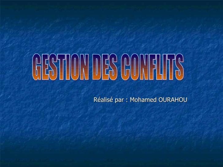 Réalisé par : Mohamed OURAHOU