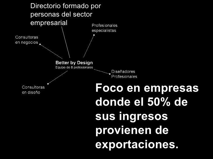 Foco en empresas donde el 50% de sus ingresos provienen de exportaciones. Directorio formado por personas del sector empre...