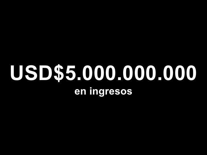 USD$5.000.000.000 en ingresos