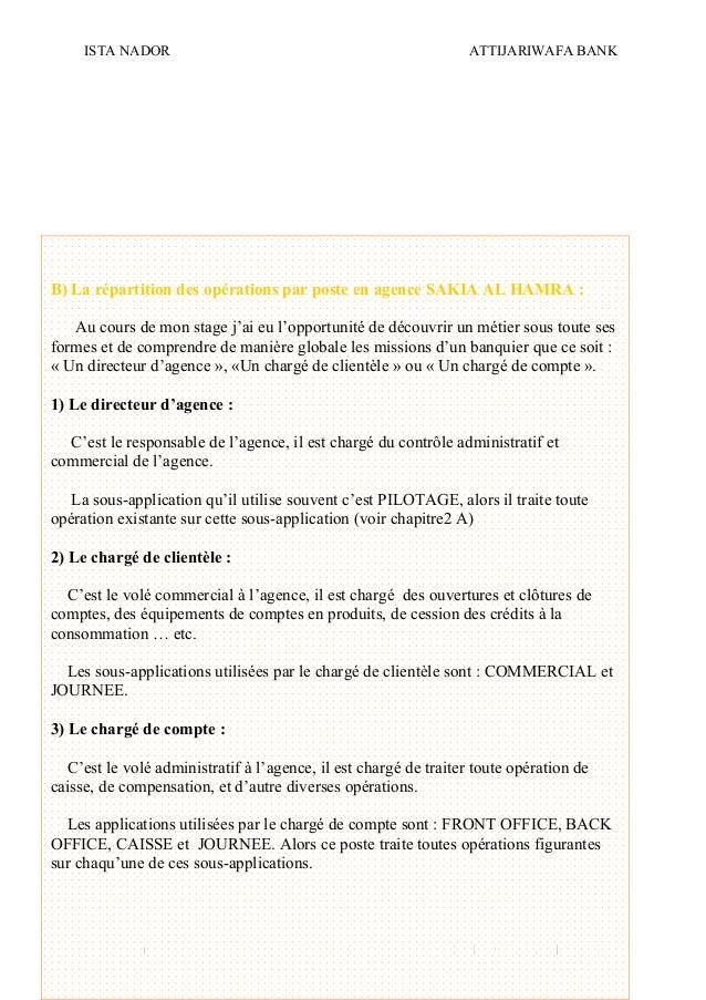 ISTA NADOR ATTIJARIWAFA BANK 2009/2010 OUIAM EL KAABOUCH20 B) La répartition des opérations par poste en agence SAKIA AL H...