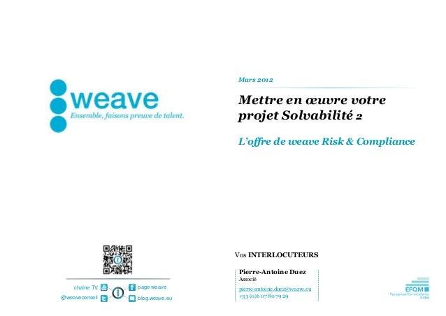 Mars 2012                                Mettre en œuvre votre                                projet Solvabilité 2        ...