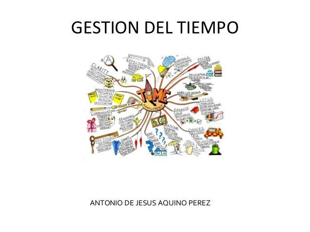 GESTION DEL TIEMPO ANTONIO DE JESUS AQUINO PEREZ