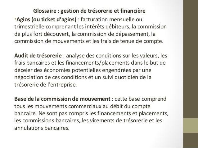 Gestion de tresorerie for Chambre de compensation bancaire