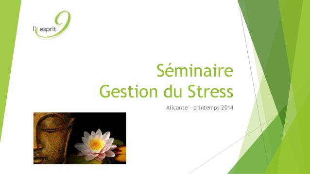 Séminaire Gestion du Stress Alicante – printemps 2014