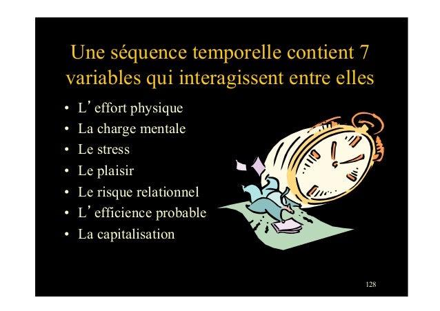 128Une séquence temporelle contient 7variables qui interagissent entre elles• L'effort physique• La charge mentale• Le ...