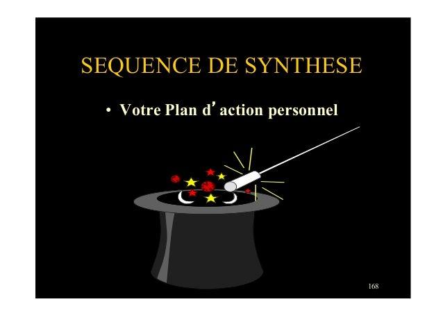 168SEQUENCE DE SYNTHESE• Votre Plan d'action personnel