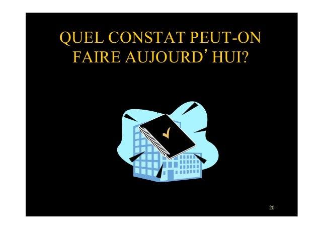 20QUEL CONSTAT PEUT-ONFAIRE AUJOURD'HUI?