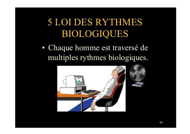 505 LOI DES RYTHMESBIOLOGIQUES• Chaque homme est traversé demultiples rythmes biologiques.