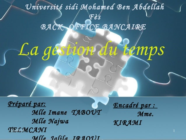 gestion du temps communication prof
