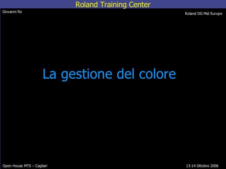 La gestione del colore