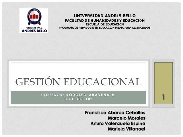 UNIVERSIDAD ANDRÉS BELLO  FACULTAD DE HUMANIDADES Y EDUCACIÓN ESCUELA DE EDUCACIÓN  PROGRAMA DE PEDAGOGÍA EN EDUCACIÓN MED...