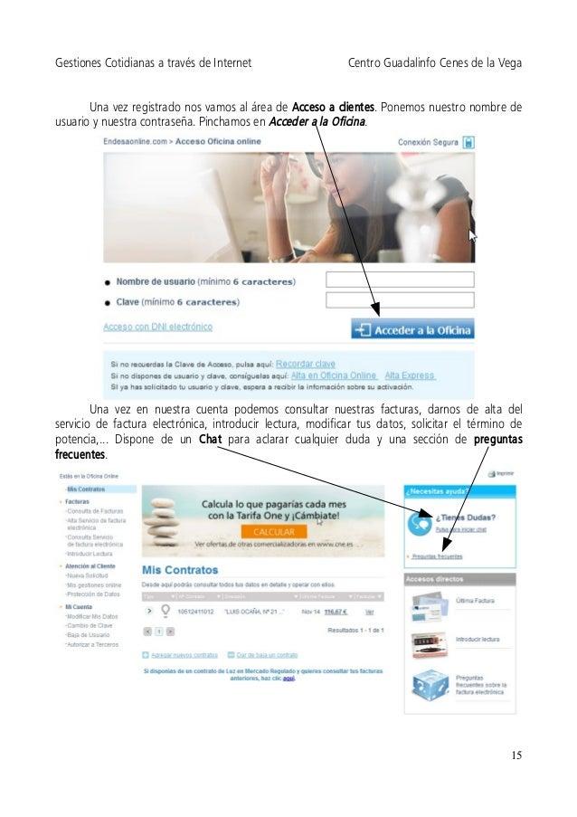 Gestiones cotidianas a trav s de internet 2014 for Oficina endesa online