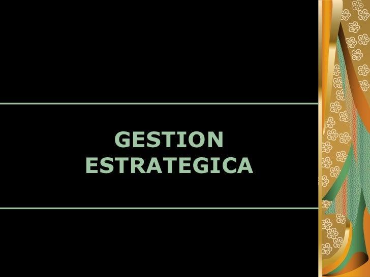 GESTIONESTRATEGICA