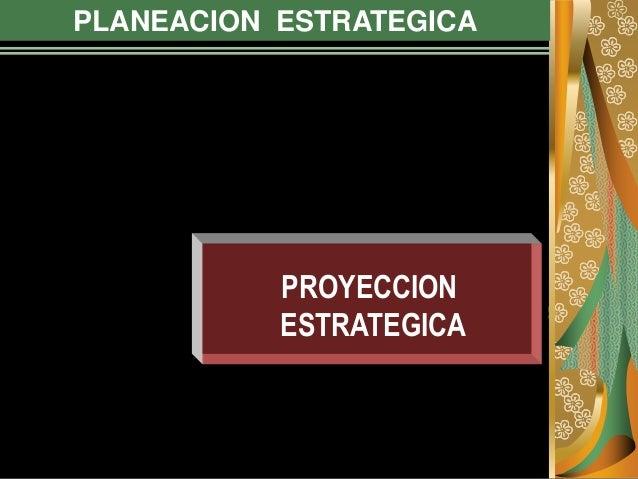 PLANEACION ESTRATEGICA PROYECCION ESTRATEGICA
