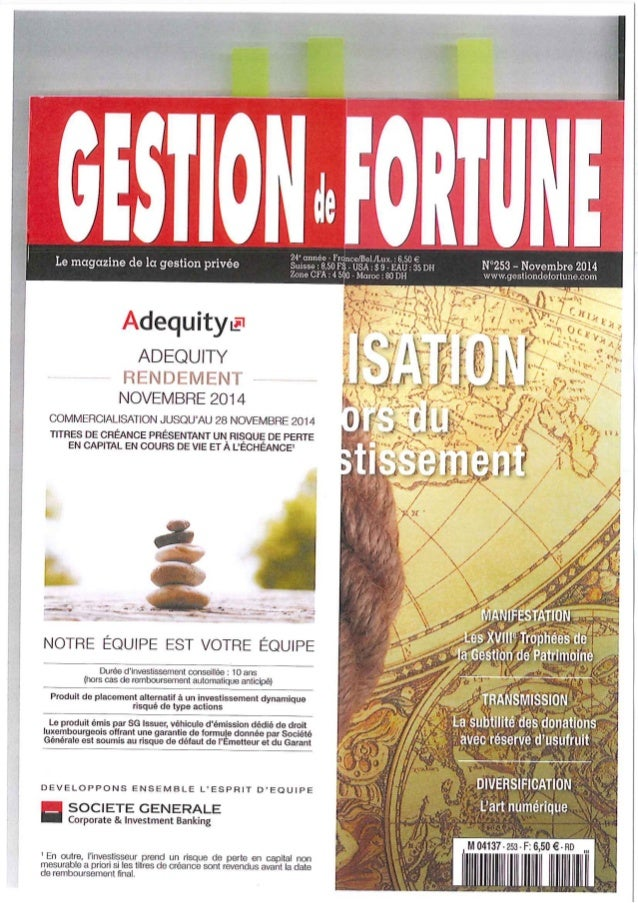 Gestion fortune 11 2014