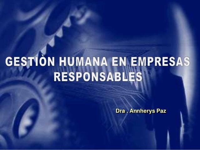 Dra . Annherys Paz