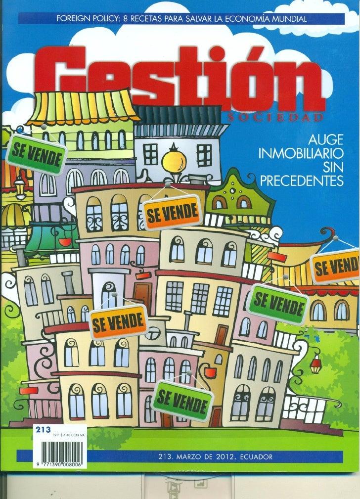 Artículo de Juan Rivera en la revista Gestión de Ecuador