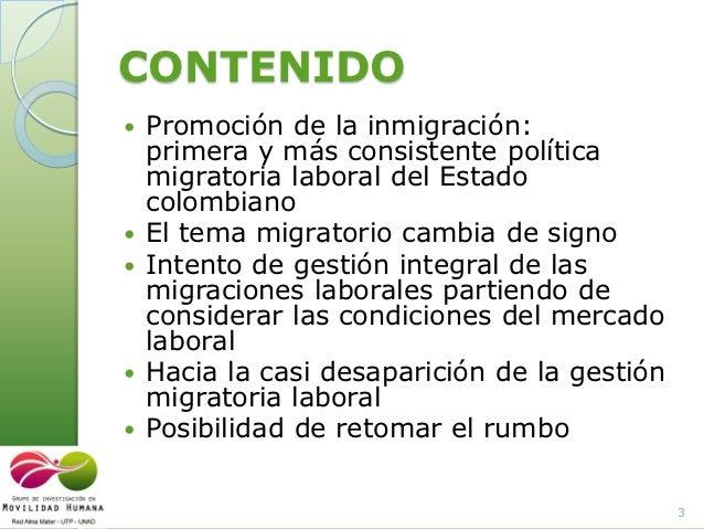 Gestion Migratoria Laboral En Colombia 2011