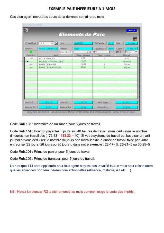 Gestion Paie Sous Excel