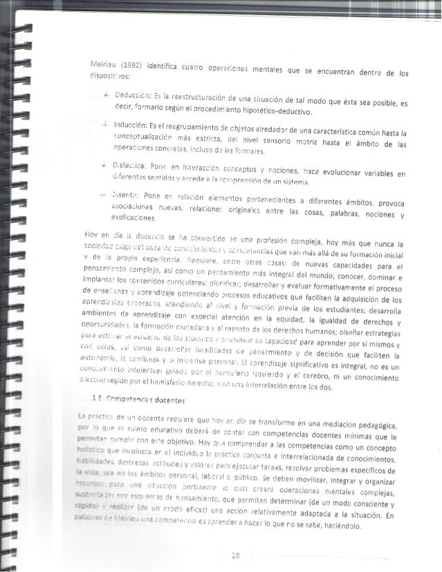 .'-/ ieiriau (1992) identifica cuacro operatic-ne'  s mentales que se encuentran dentro de los riisposf-'J / os:      ' la...